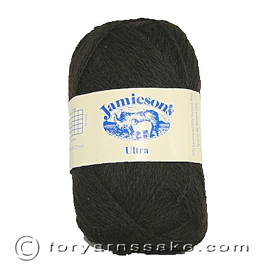 Jamiesons of Shetland Ultra Lace, Shetland Black, color 101