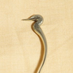 Jul Designs Cormorant Shawl Stick White Bronze - Inca Collection