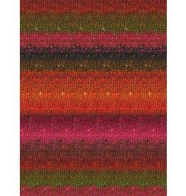 Noro Silk Garden Sock, Orange, Red, Pink color 84
