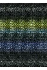 Noro Silk Garden, Black, Turquoise, Green color 252