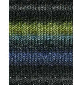Noro Silk Garden, Black, Turquoise, Green color 252