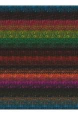 Noro Silk Garden Sock, Turquoise, Fuschia, Gold color 211