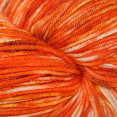 Knitted Wit Sock, Rock Candy Orange