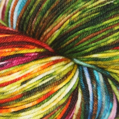 Knitted Wit Sock, Autumn Rainbow