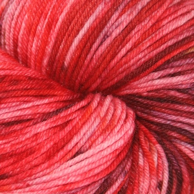 Knitted Wit Sock, Rock Candy Red