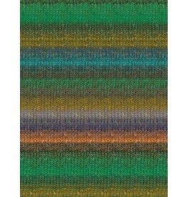 Noro Silk Garden Sock, Greens, Coral, Ink Color 426 (Discontinued)