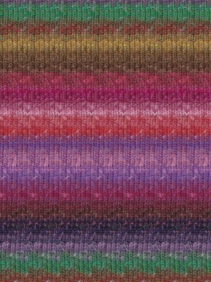 Noro Silk Garden Sock, Peach, Pink, Purple Color 415 (Retired)