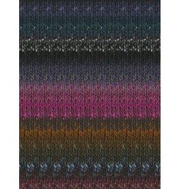 Noro Silk Garden, Black, Grey, Violet, Green color 412 (Discontinued)