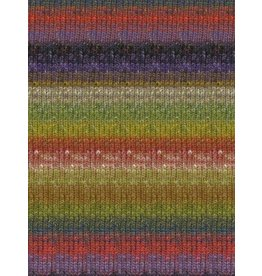 Noro Silk Garden Sock, Olive, Red, Purple Color 424 (Discontinued)