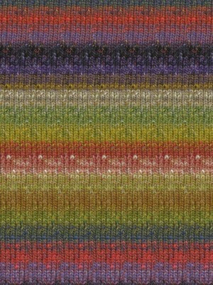 Silk Garden Sock, Olive, Red, Purple Color 424 (Discontinued)