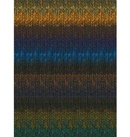 Noro Silk Garden, Bright Blue, Brown, Gold, Navy color 394 (Discontinued)