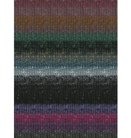 Noro Silk Garden Sock, Black, Mauve, Blue Color 413