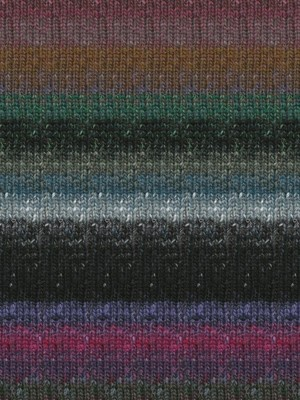 Noro Silk Garden Sock, Black, Mauve, Blue Color 413 (Retired)