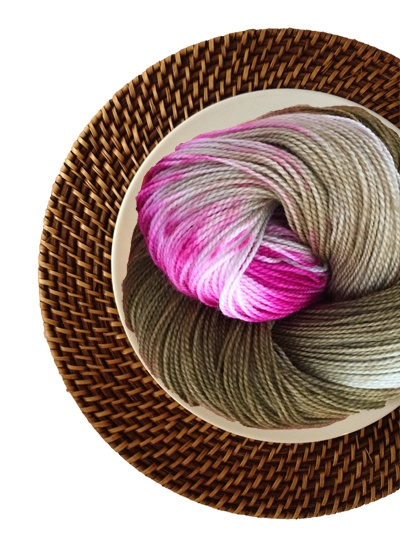 Delicious Yarns Sweets Fingering, Mocha Raspberry *CLEARANCE*