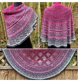 For Yarn's Sake, LLC Half the Knit Sky Shawl Kit, Made You Blush