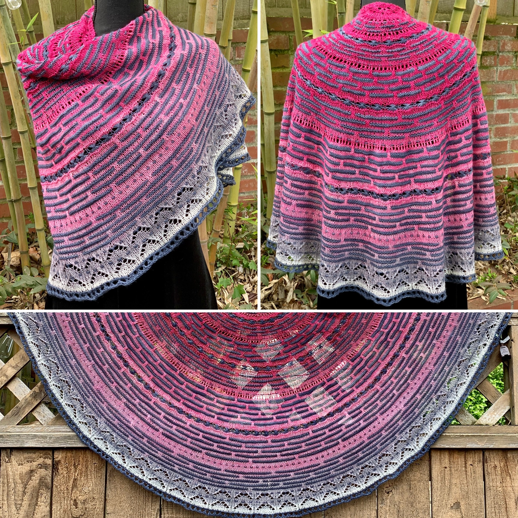 For Yarn's Sake, LLC Half the Knit Sky Shawl Kit, Made You Blush