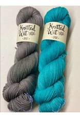 Knitted Wit The ShannaJean Club Year 2, April 2021 - Wavelengthing, Karl the Fog and Turquoise