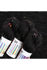 Hedgehog Fibres Hand Dyed Yarns Tweedy Noir