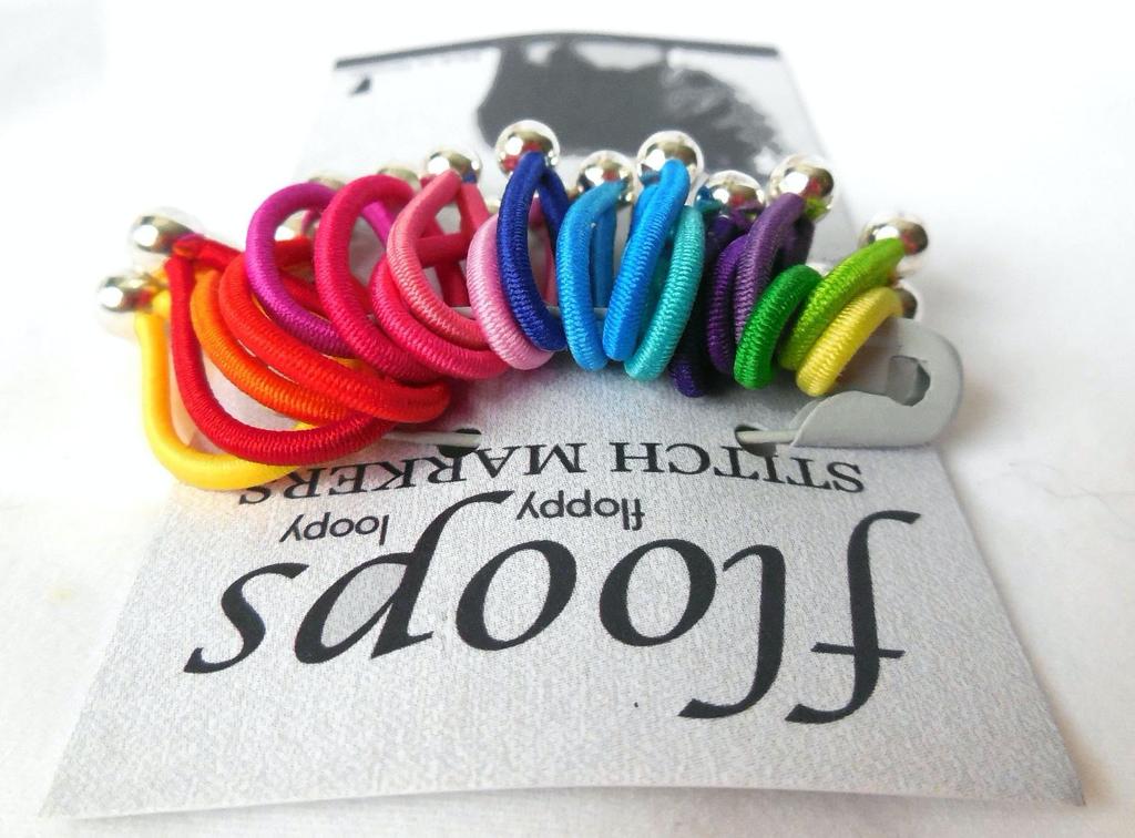 Floops Stitch Markers, Skinny Small/Medium, Brilliant