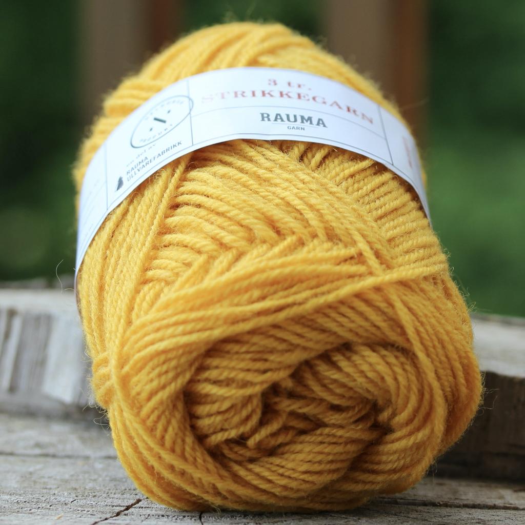 Rauma Strikkegarn 3ply, Color 131 (Dark Yellow)