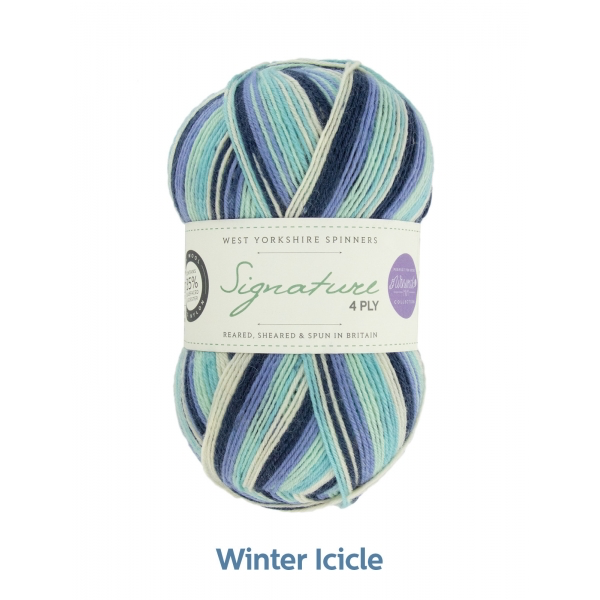 West Yorkshire Spinners Signature 4ply, Winter Icycle 0878