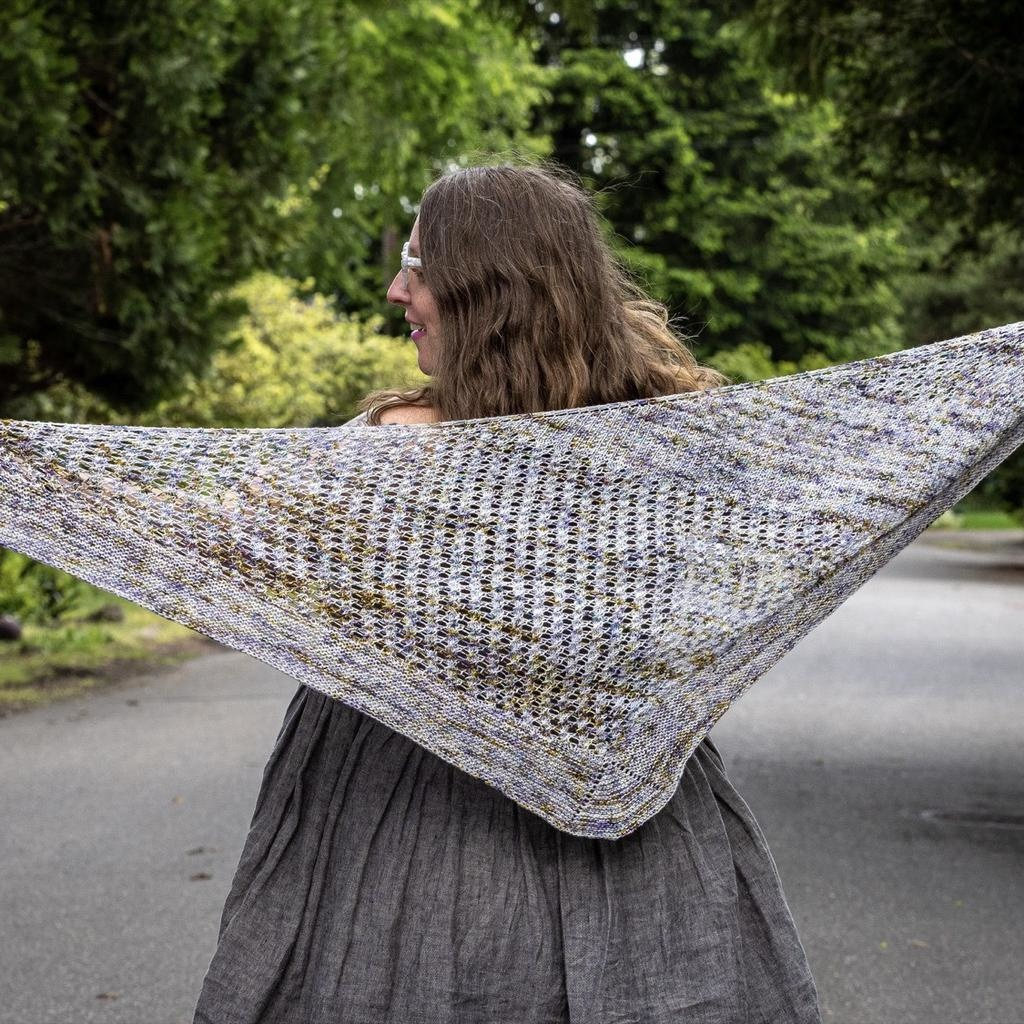 Knitted Wit The ShannaJean Club Year 2, June 2021 - The Nines Shawl, Nine of Swords