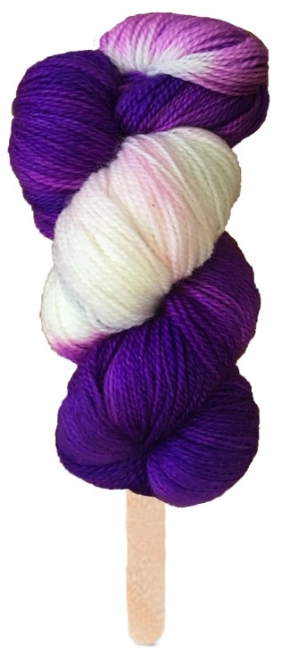 Delicious Yarns Swirl Fingering, Grape *CLEARANCE*
