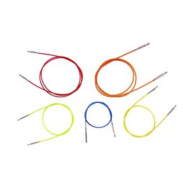 Knitters Pride 40-inch Colored Interchangeable Cord, Red