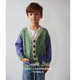 Debbie Bliss Baby Cashmerino Tonals - Colour Block Cardigan