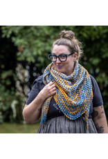 Knitted Wit The ShannaJean Club Year 2, October - Emerald City Shawl, Moonlit PSL