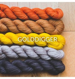 Sweet Georgia Party of 5 - Tough Love Sock, Golddigger (Retired Color)