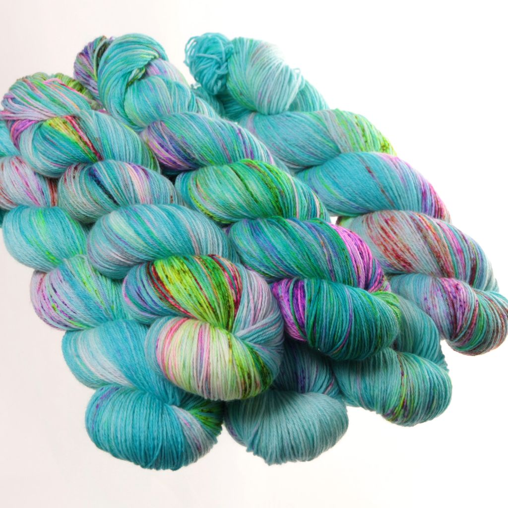 Hedgehog Fibres Hand Dyed Yarns Skinny Singles, Bubble