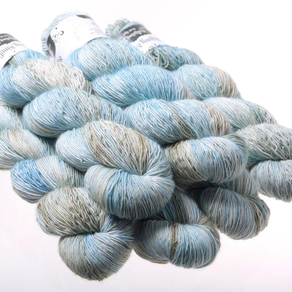 Hedgehog Fibres Hand Dyed Yarns Skinny Singles, Dove