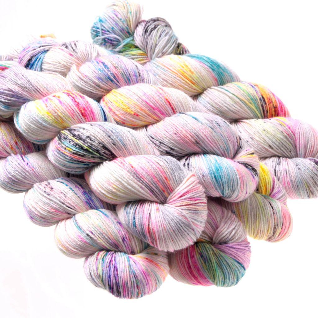 Hedgehog Fibres Hand Dyed Yarns Skinny Singles, Zephyr