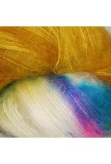 Hedgehog Fibres Hand Dyed Yarns Kidsilk Lace, Fool's Gold