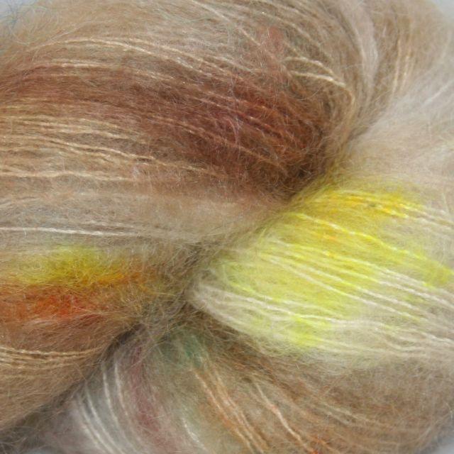 Hedgehog Fibres Hand Dyed Yarns Kidsilk Lace, Artifact