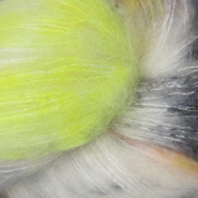 Hedgehog Fibres Hand Dyed Yarns Kidsilk Lace, Bee's Knees