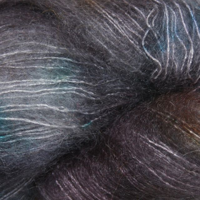 Hedgehog Fibres Hand Dyed Yarns Kidsilk Lace, Salty Tales