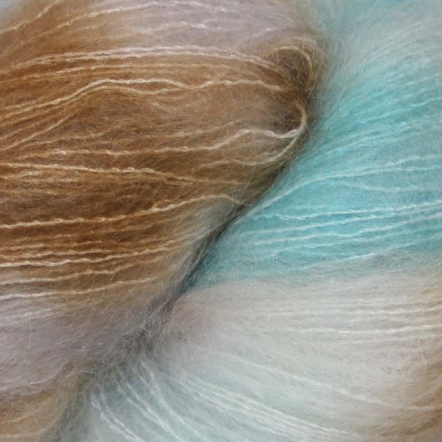 Hedgehog Fibres Hand Dyed Yarns Kidsilk Lace, Opalite