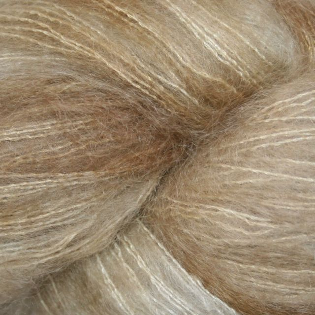 Hedgehog Fibres Hand Dyed Yarns Kidsilk Lace, Stone