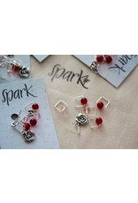 Square Stitch Markers, Run For the Roses, A For Yarn's Sake Exclusive
