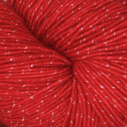 Knitted Wit Pixie Plied, Red