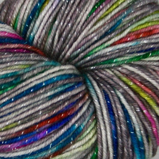 Knitted Wit Pixie Plied, Unicorn Eggs