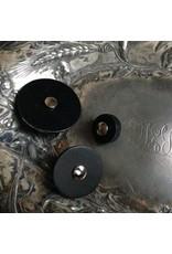 Jul Designs Leather Pedestal Button, Small Black