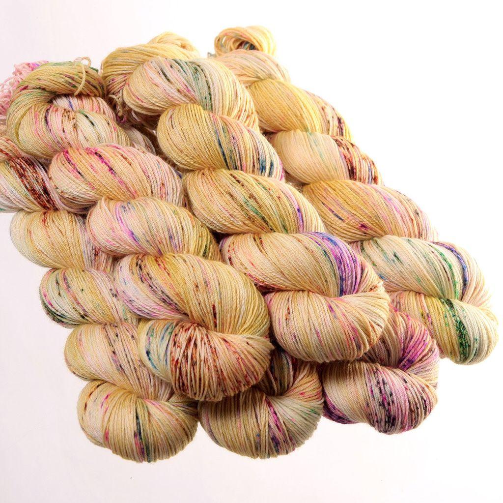 Hedgehog Fibres Hand Dyed Yarns Skinny Singles, Dijon