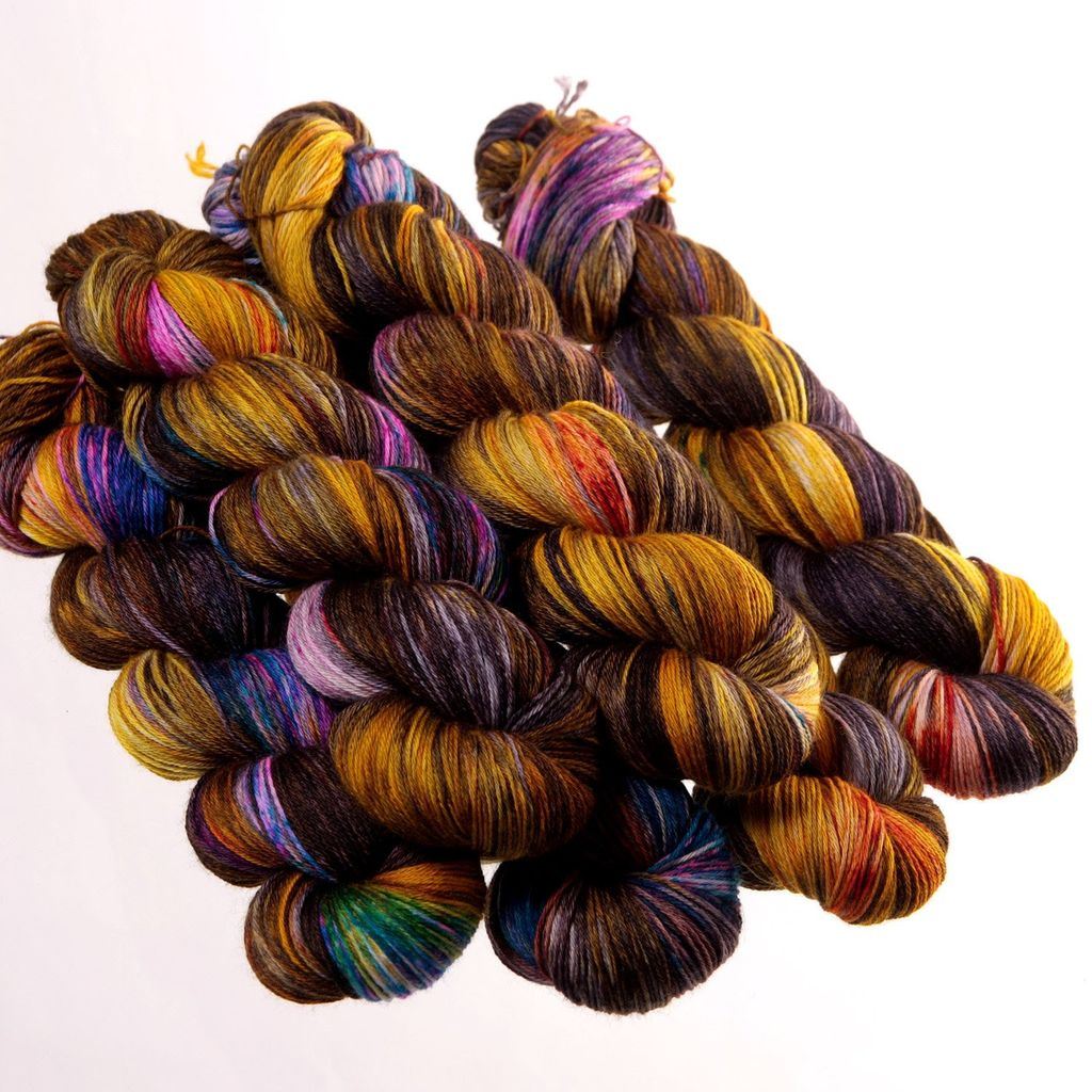 Hedgehog Fibres Hand Dyed Yarns Sock Yarn, Raku