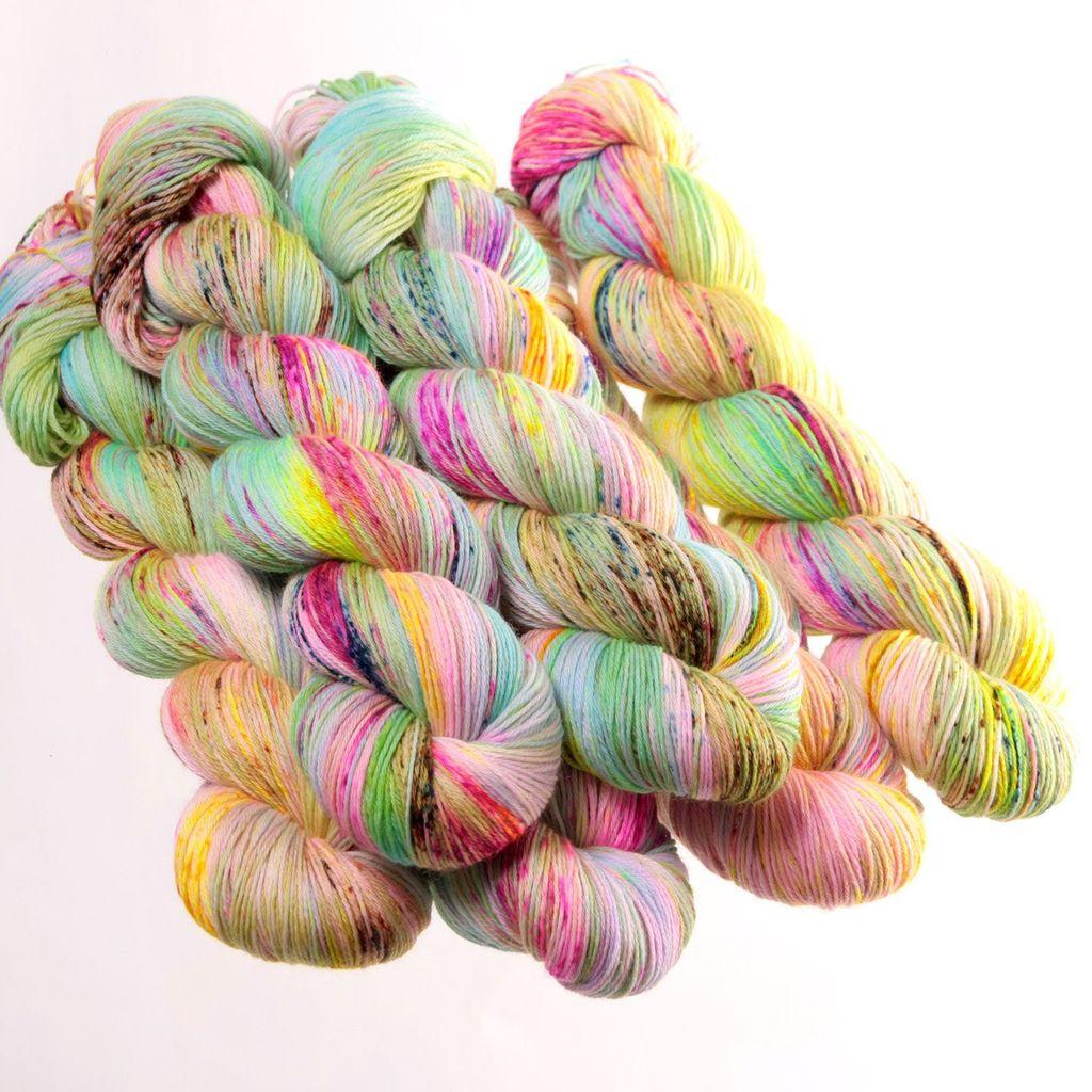 Hedgehog Fibres Hand Dyed Yarns Sock Yarn, Piggy Bank