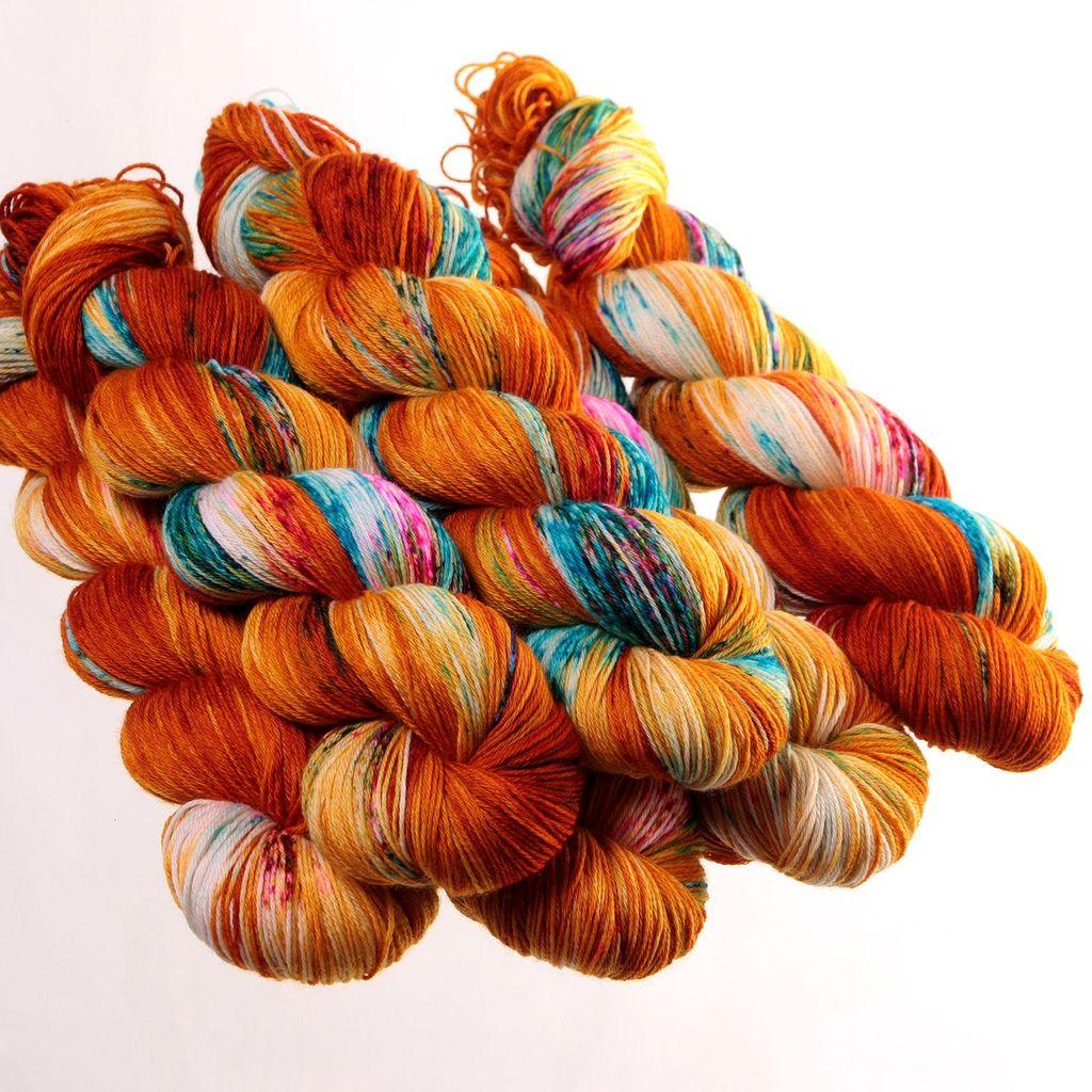 Hedgehog Fibres Hand Dyed Yarns Sock Yarn, Guppy