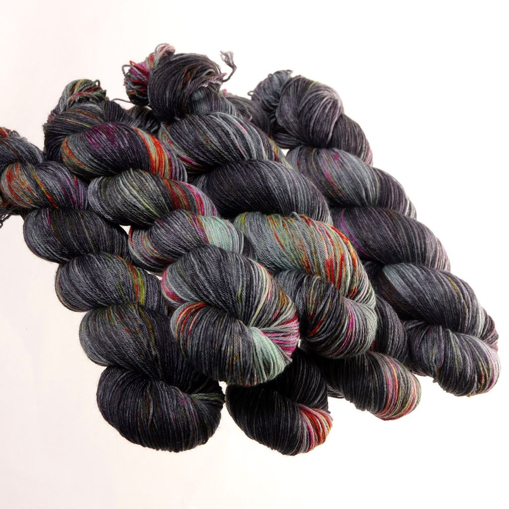 Hedgehog Fibres Hand Dyed Yarns Sock Yarn, Goblin