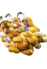 Hedgehog Fibres Hand Dyed Yarns Skinny Singles, Fool's Gold